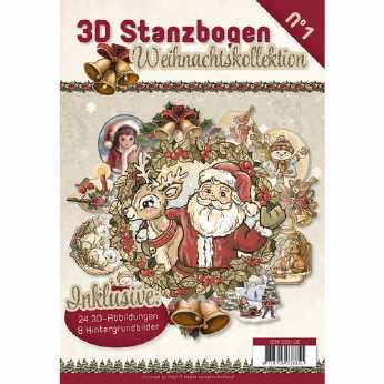 Stanzblock Nr. 51 Shabby Winter Christmas