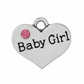 Charms Herz Baby Girl
