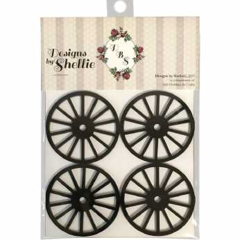 Designs by Shellie Acrylic Wagon Wheels black