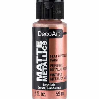 DecoArt Matte Metallics Rose Gold