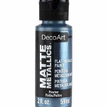 DecoArt Matte Metallics Pewter