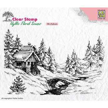 Nellie´s Choice Clearstamp Layered X-Mas Border