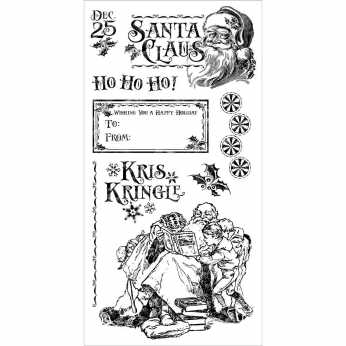 Graphic45 Cling Stamps St. Nicholas 3