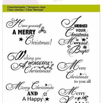 CraftEmotions Clearstamps Christmas Whishes
