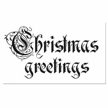 Stamperia Stempel Christmas Greetings
