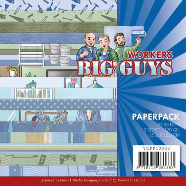Paperpack - Yvonne Creations - Big Guys Workers