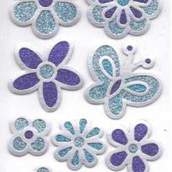 Design Sticker Blume blau