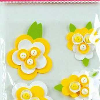 Design Sticker Large Button Flowers
