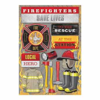 Karen Foster Cardstock Sticker Firefighter