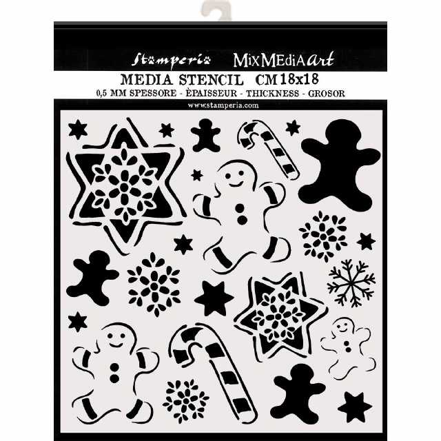 Stamperia Stencil Gingerbread