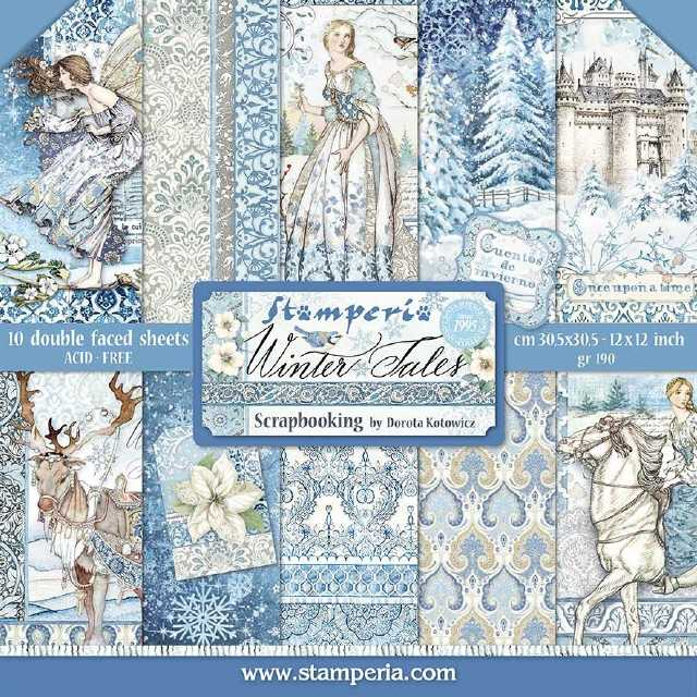 Stamperia Paper Pad Winter Tales 12x12""