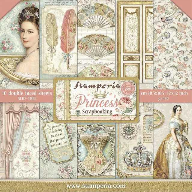 Stamperia Paper Pad Princess 12x12""
