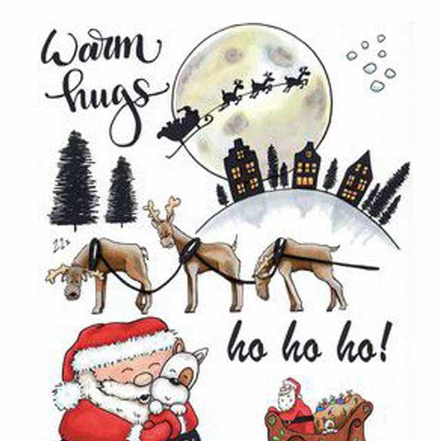 CraftEmotions Clearstamps Santa 2
