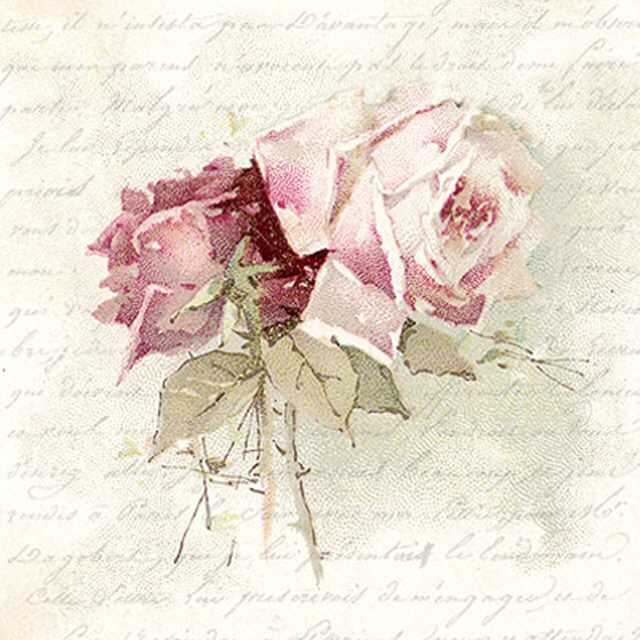 Servietten Vintage Rose Poem