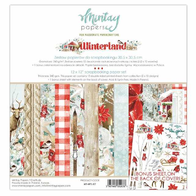 Mintay Papers - Paper Pad Winterland 12x12""