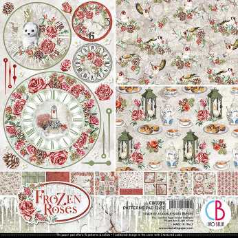 Ciao Bella Patterns Pad Frozen Roses 12x12""