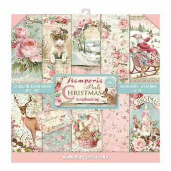 Stamperia Paper Pad Pink Christmas