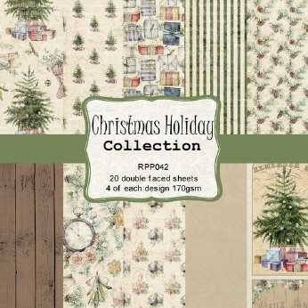 Reprint Paper Pack Christmas Holiday 6x6""
