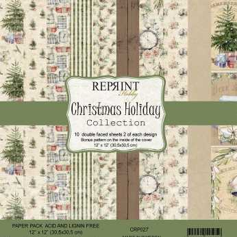 Reprint Paper Pack Christmas Holiday 12x12""