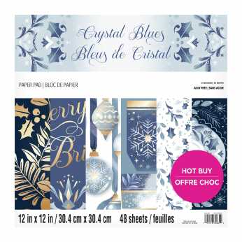 Craft Smith Paper Pad Crystal Blues