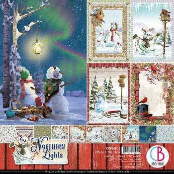 Ciao Bella Paper Pad Northern Lights 12x12""