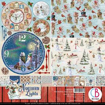 Ciao Bella Patterns Pad Northern Lights 12x12""
