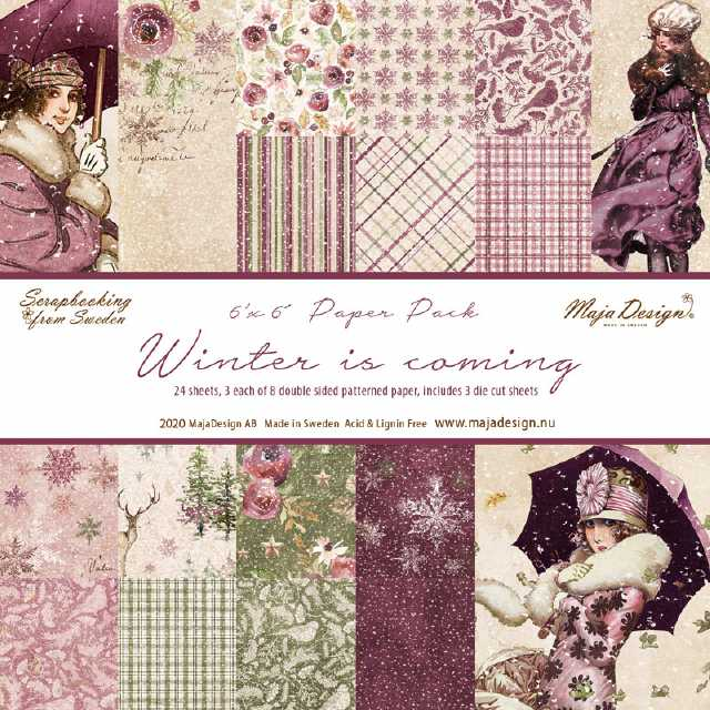 Maja Design Papierblock Winter is coming 6x6""