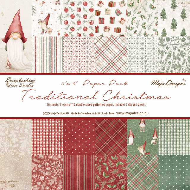 Maja Design Papierblock Traditional Christmas 6x6""