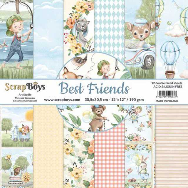 Scrapboys Papierblock Best Friends 12x12""