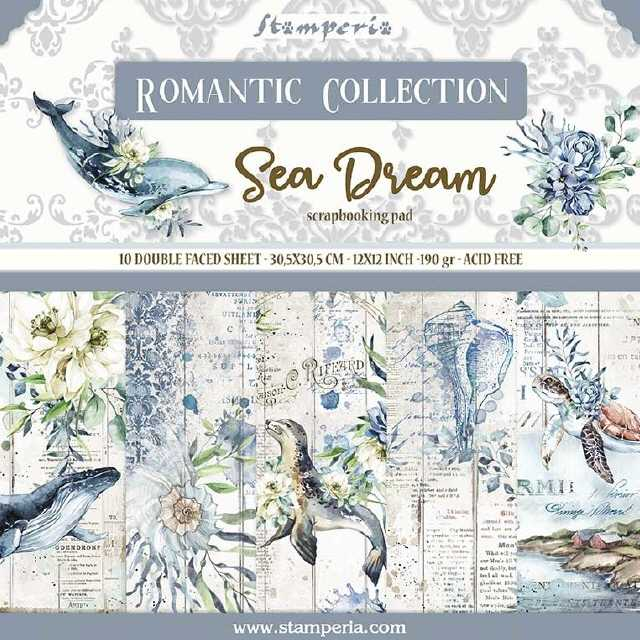 Stamperia Paper Pad Romantic Col. Sea Dream 12x12""